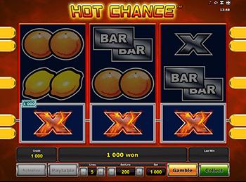 Автоматы с бонусами Hot Chance