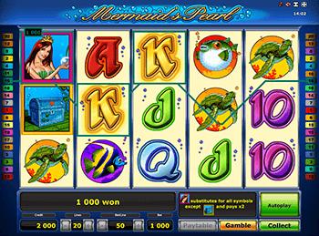 Автоматы с бонусами Mermaid's Pearl Deluxe
