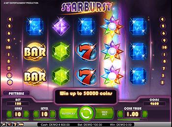 Казино на деньги Starburst